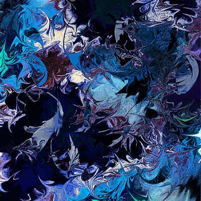 Psychological Digital Art - Tales In A Moonlit Wood by Rachel Christine Nowicki