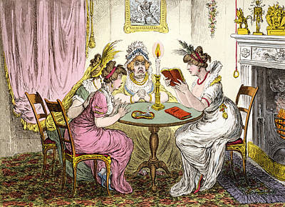 Candle Lit Drawing - Tales Of Wonder  by James Gillray