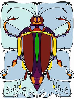 Digital Art - Talesin Beetle by Russell Pierce