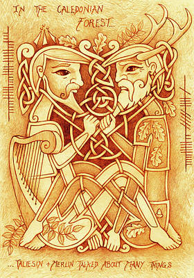 Taliesin And Merlin Talked About Many Things Art Print by Yuri Leitch