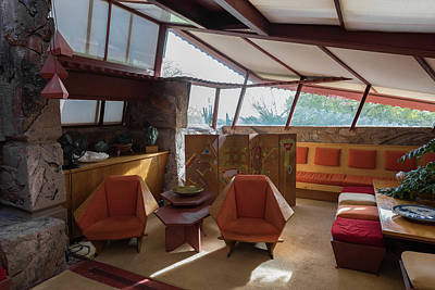 Scottsdale Photograph - Taliesin West Interior by Steve Gadomski
