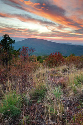 Photograph - Talimena Fire In The Skies - Arkansas - Oklahoma by Gregory Ballos