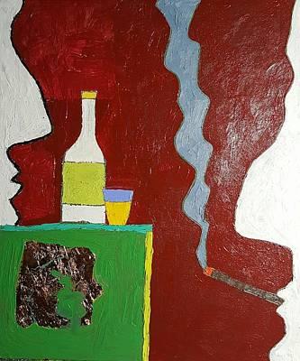 Talk Oil On Canvas 20 X 24 2016 Art Print