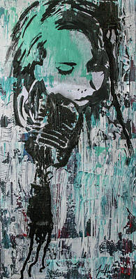 Recently Sold - Music Paintings - Talk til we both turn blue by Jayime Jean