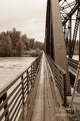 Photograph - Talkeetna Railroad Bridge Walkway by Jennifer White