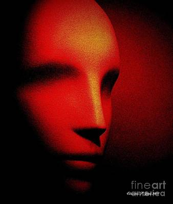 Talking Head Red Art Print