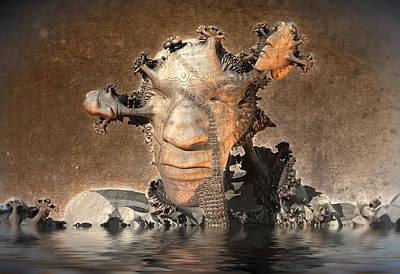 Digital Art - Talking Heads by Hal Tenny