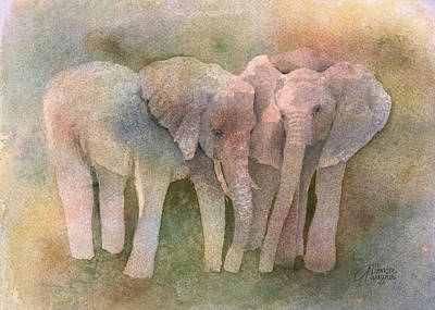 Elephant Photograph - Talking It Over by Arline Wagner