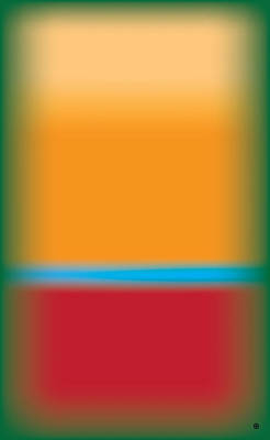 Tall Abstract Color Art Print by Gary Grayson