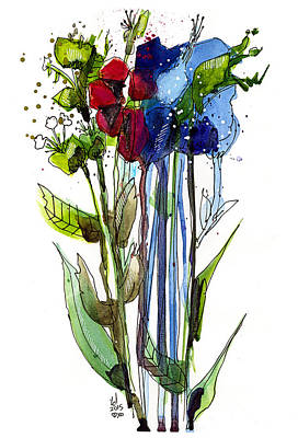 Tall Bouquet Art Print by Tonya Doughty
