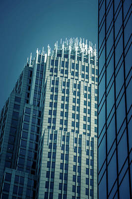 Graduation Hats Royalty Free Images - Tall Buildings Tower Over Charlotte North Carolina Royalty-Free Image by Alex Grichenko