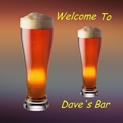 David Drawing - Tall Cold Beer Customized  by Movie Poster Prints