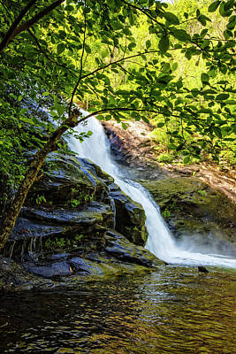 Photograph - Tall Falls In The Smokies by Debra and Dave Vanderlaan
