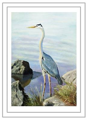 Painting - Tall Fellow Art Card by Harriett Masterson