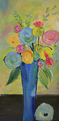 Painting - Tall Floral Order by Teresa Tilley