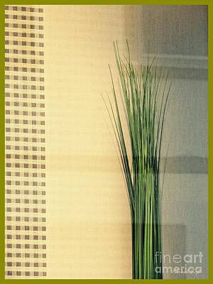Designs In Nature Digital Art - Tall Grass In The Window by Sarah Loft