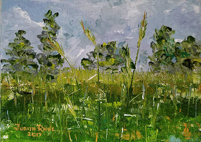 Art Print featuring the painting Tall Grass by Judith Rhue