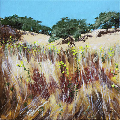 Painting - Tall Grass. Late Summer by Masha Batkova