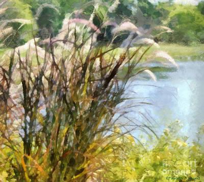 Fuzzy Digital Art - Tall Grasses by Paulette B Wright