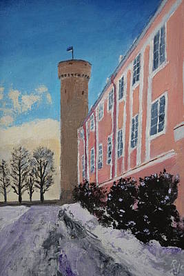 Tall Hermann Tower Tallinn Estonia Original by Rauno  Joks