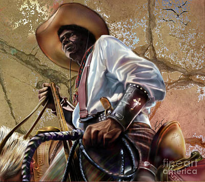 Painting - Tall In The Saddle Cowboy Pride 1a by Reggie Duffie