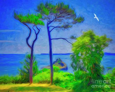Digital Art - Tall Pines by Edmund Nagele