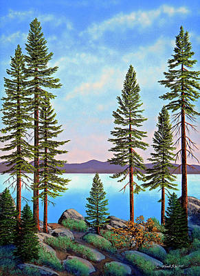 Painting - Tall Pines Of Lake Tahoe by Frank Wilson