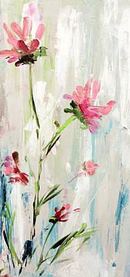 Painting - Tall Pink Wildflowers by Karen Ahuja
