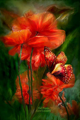 Mixed Media - Tall Poppies by Carol Cavalaris