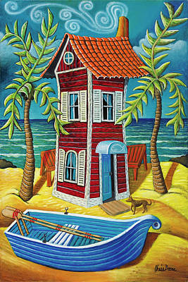 Painting - Tall Red House by Chris Boone