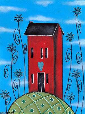 Painting - Tall Saltbox by  Abril Andrade Griffith