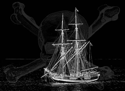 Photograph - Tall Ship At Night by Wes and Dotty Weber