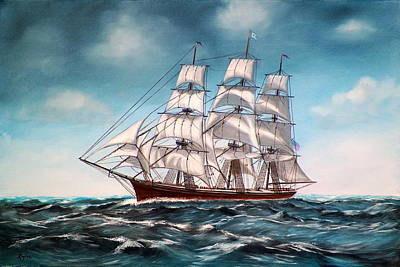 Painting - Tall Ship At Sea by RB McGrath