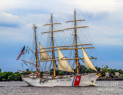 Photograph - Tall Ship - Barque Eagle by Nick Zelinsky