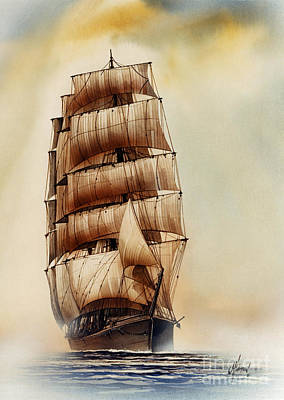 Tall Ship Carradale Art Print by James Williamson