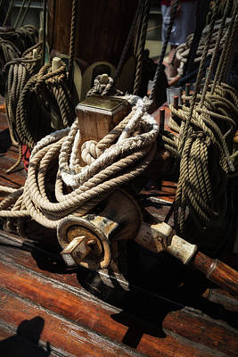 Photograph - Tall Ship Details by Dale Kincaid