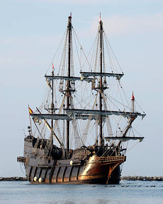Photograph - Tall Ship El  Galeon Andalucia Andalucia by Ann Bridges