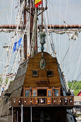 Photograph - Tall Ship El Galeon by Betty Denise