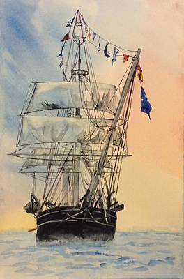 Painting - Tall Ship by Ellen Canfield