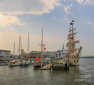 Photograph - Tall Ship Europe Docked In The Lowcountry by Dale Powell