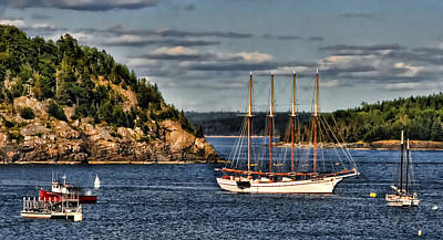 Photograph - Tall Ship In Bar Harbor Inlet by Ginger Wakem