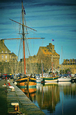 Photograph - Tall Ship In Saint Malo by Elf Evans