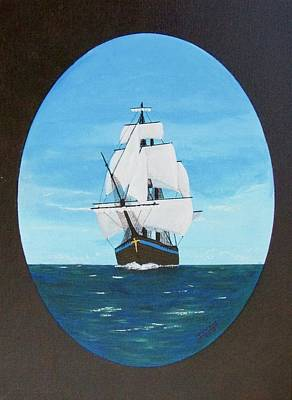 Painting - Tall Ship by Jimmy Lowery