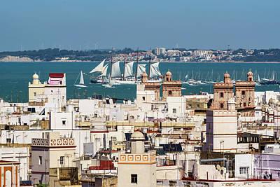 Photograph - Tall Ship Juan Sebastian Elcano Departs Cadiz Spain by Pablo Avanzini