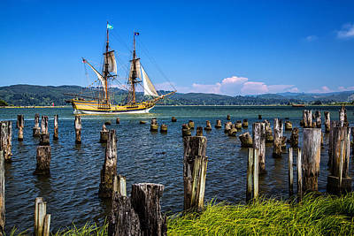 Tall Ship Lady Washington Art Print by Robert Bynum