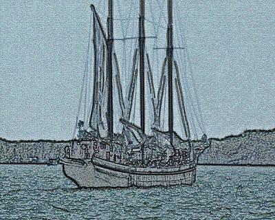 Digital Art - Tall Ship by Leslie Montgomery