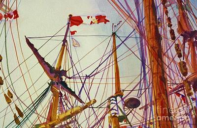 Tall Ship Lines Art Print