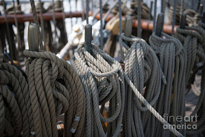 Photograph - Tall Ship Lines On The Barque Eagle by Dale Powell