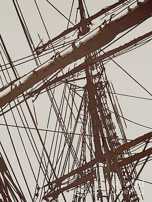 Photograph - Tall Ship Mast D by Tim Richards