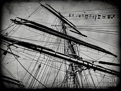 Digital Art - Tall Ship Mast V3 by Tim Richards